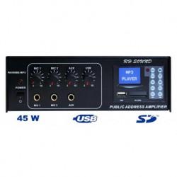 WZMACNIACZ PA450BE MP3 - 230V/12V - BEZ RADIA FM