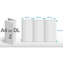 Gazetka Reklamowa A4 składane do A5 - 4 strony - kolor 4+4 - papier 60 gr. ECO