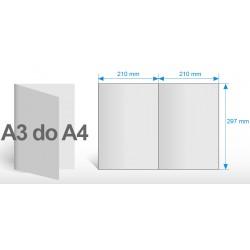 Gazetki reklamowe A3 do A4- 4 strony - papier 60 gr.