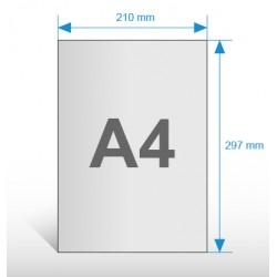 Ulotki A4 - papier eco - druk dwustronny